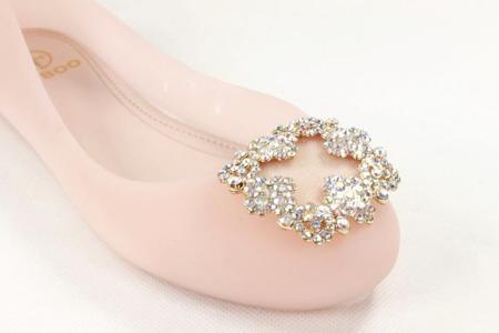 Balerinki gumowe różowe