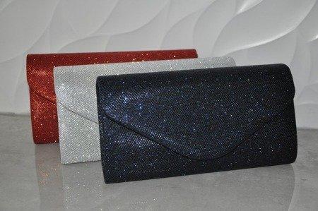 Elegancka torebka kopertówka granatowa błyszcząca