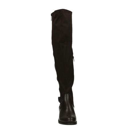 Muszkieterki za kolano brązowe
