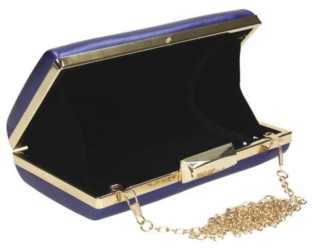 Torebka kopertówka puzderko niebieska wizytowa